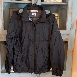 Columbia all black rain jacket